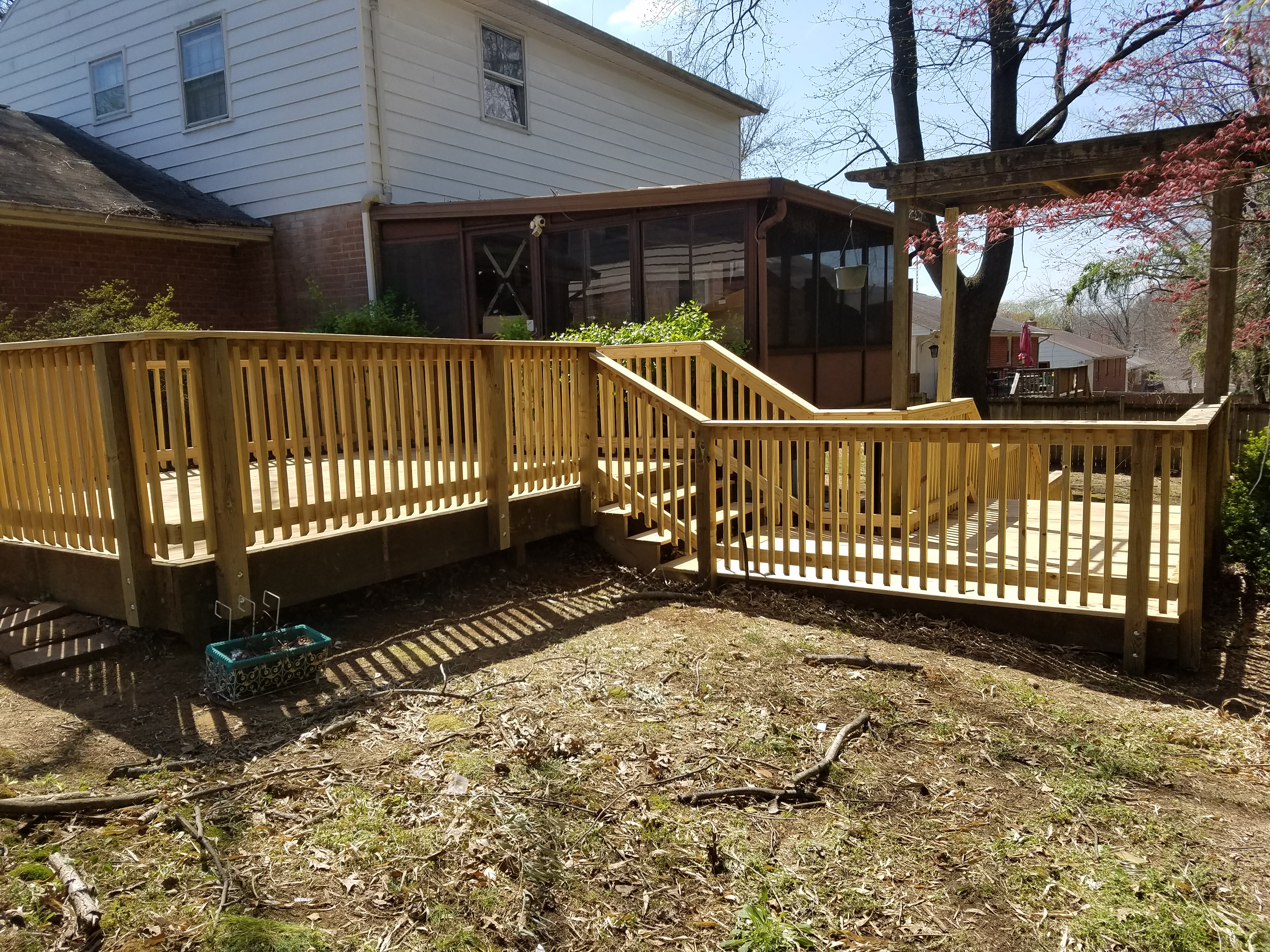 Custom Deck built by Graham Home Services